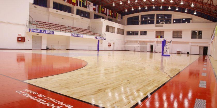 Sistem de parchet fix: Dobroești, Sala Sporturilor
